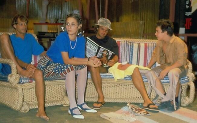 André DeBiase, Andréa Beltrão, Kadu Moliterno e Jonas Torres na fase final do seriado