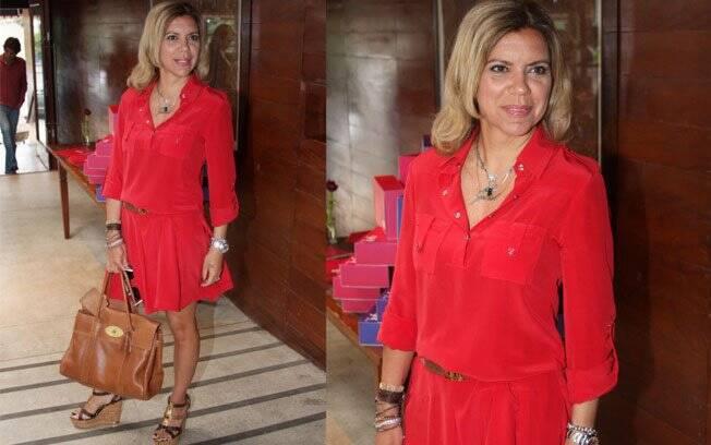 Astrid Fontenelle estava entre as mais bem vestidas do almoço de lançamento da nova programação da GNT