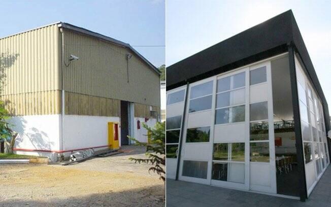 O retrofit, do escritório FGMF, transformou o galpão abandonado em refeitório. Apenas estrutura, fundações e cobertura foram aproveitadas integralmente