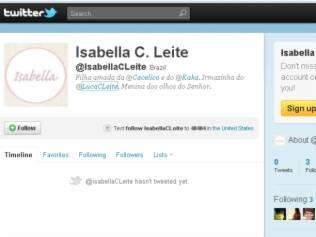 Isabella ganhou Twitter no 2º dia de vida