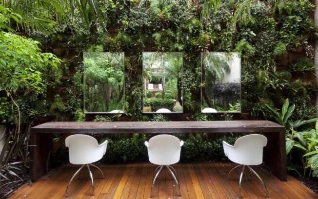 A preocupação com a sustentabilidade está em cada detalhe no salão de Marcos Proença