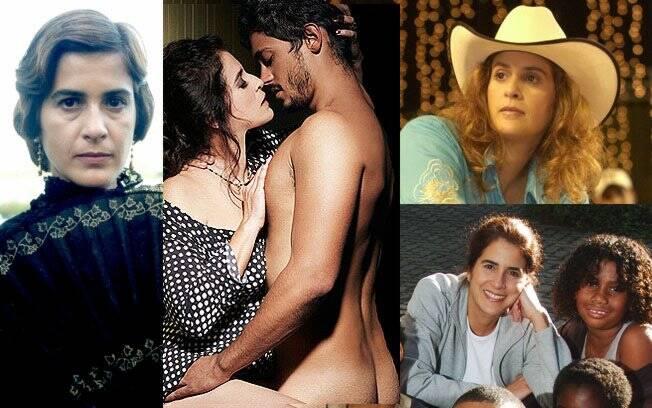 A atriz em ''Esperança'' (2002), na polêmica peça ''Usufruto'', atualmente em cartaz, ''América'' (2005) e em participação especial no programa ''Linha Direta''(2006)