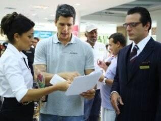 Márcio Garcia com os atores Rodrigo Lombardi e Juliana Paes nas filmagens de