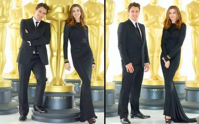 James Franco e Anne Hathaway posam nas imagens oficiais do Oscar 2011