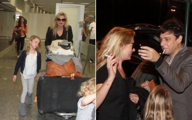 Kate Moss, Jamie Hince e a filha da top, Lilla, desembarcam no Rio