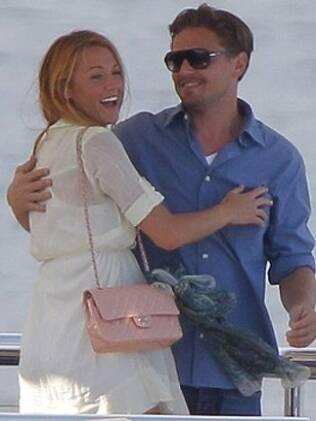 Leonardo DiCaprio e Blake Lively juntos em Cannes